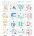 Infographics mini concept Smart modern city vector image vector image