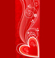 love ornament vector image vector image