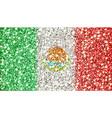 mexico sparkling flag vector image vector image