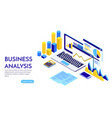 modern flat design isometric concept business vector image vector image