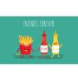 mustard and ketchup vector image