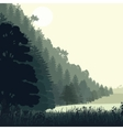 Natural landscape with pines vector image