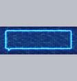 neon sign in rectangular frame shape bright vector image