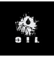 oil industry grunge design template vector image vector image
