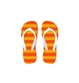 Orange flip-flops isolated vector image