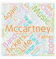 Paul Mccartney Tickets See An Icon Return To The vector image vector image