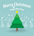 pine tree and snow theme merry christmas and vector image vector image