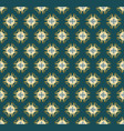 seamless symmetrical pattern of gold pieces vector image