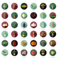Set of flat round vegetable icons vector image