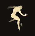 silhouette of a dancer sports concept 3d model man vector image