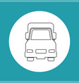 silhouette truck transport white circle vector image