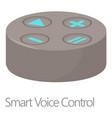smart voice control icon cartoon style vector image
