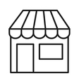 store front isolated icon design vector image vector image