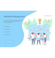 team of young businessmen have a business meeting vector image