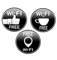 Three wi-fi icons vector image vector image