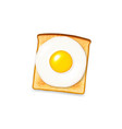 toast with egg vector image vector image