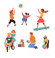 toys and children playing games bicycle and vector image vector image