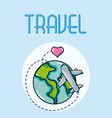 travel and vacations vector image vector image