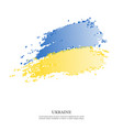 ukraine flag with halftone effect vector image vector image