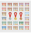 universal sports medals with shade on white vector image