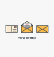 youve got mail vector image vector image