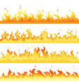 fire flame backdrop background set horizontal vector image