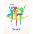 with ballet dancers vector image
