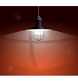Ancient black lamp hanging Big and empty space vector image vector image