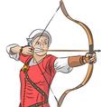 archer v vector image