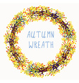 Autumn wreath frame with tree vector image