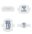 Back to School Banners with paper Ribbons Set vector image vector image