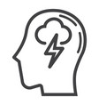 brainstorm line icon business and idea vector image