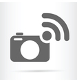 camera and wireless symbol icon vector image vector image