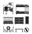 children furniture vector image vector image