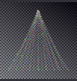 christmas light tree string light effect christm vector image vector image