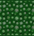 christmas snowflakes pattern winter seamless vector image vector image