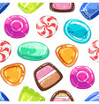 colorful sweetmeats seamless pattern candy shop vector image