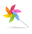 colorful toy spinning in wind vector image vector image