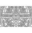 coloring book page with abstract celtic art vector image