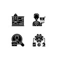 corporate structure black glyph icons set vector image vector image