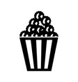 delicious pop corn icon vector image