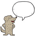 digitally drawn dog characters and speech bubbles vector image vector image