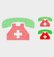 dot medical phone icons vector image vector image