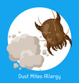 dust mites allergy for vector image