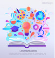 education infographic concept banner vector image