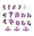 eskimo girl attack game sprites vector image vector image