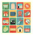 flat icons shopping set vector image