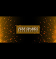glowing fire sparks design background template vector image vector image