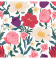 gorgeous seamless floral pattern with peony roses vector image