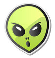 green alien face emoji sticker vector image